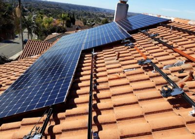 Solar assembly on Spanish S-tiles